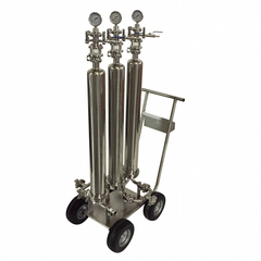 Triple filter on a cart