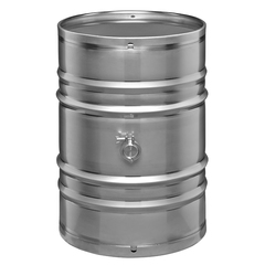55 Gallon Seamless Stainless Steel Barrel